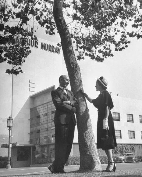 Arthur Murray and-His-Wife-Kathryn-Standing-outside-of-thier-dance-studio-LIFE.1