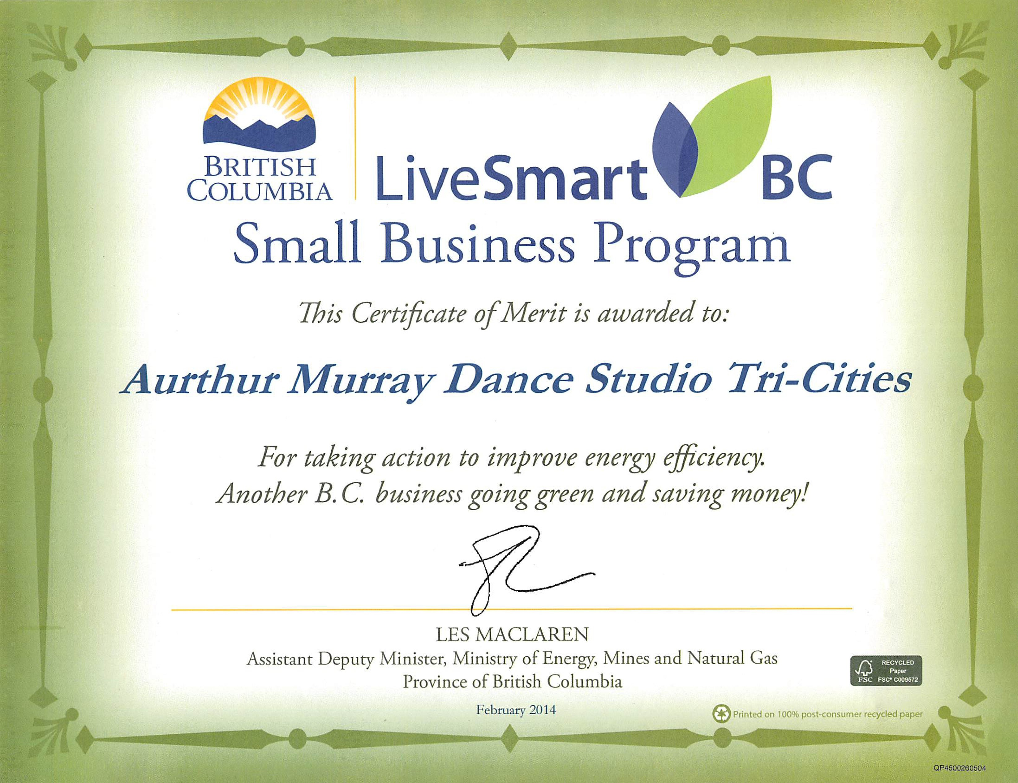 Live Smart BC certificate-page-0