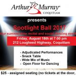 Spotlight Ball August 18th at 7:00 pm