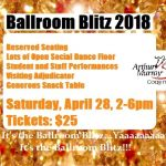 2 Weeks Left…  Last Chance for the Ballroom Blitz, Saturday, April 28, 2-6pm