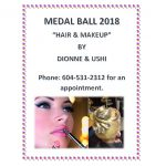 HAIR AND MAKEUP FOR MEDAL BALL – October 13th