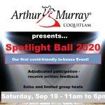 One week away!  Spotlight Ball – Saturday, September 19 – 11am to 6pm